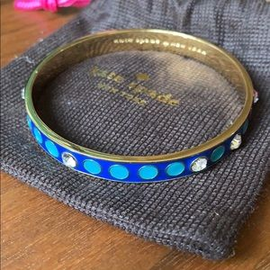 Kate Spade blue gold enamel bangle